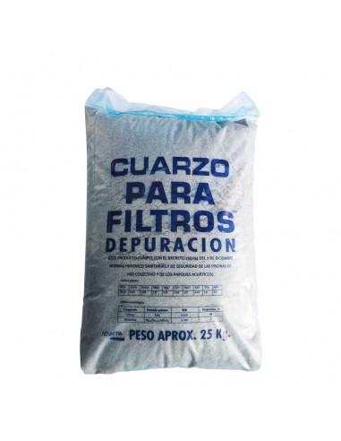 Cuarzo para Filtros de Depuración Piscinas 25 KG