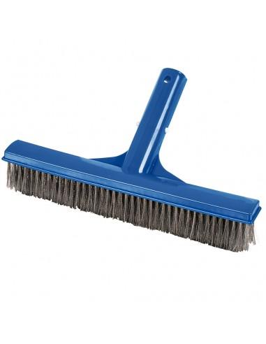 Cepillo Corto con Púas Inoxidables para la Limpieza de Piscinas