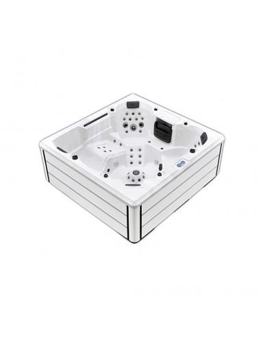 Spa con hidroterapia, luces led, fabricado en pvc modelo Rossa