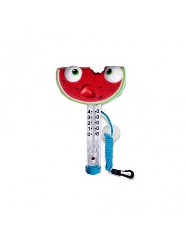 Termómetro para piscina Kokido Tutti Fruti con forma de sandía en oferta.